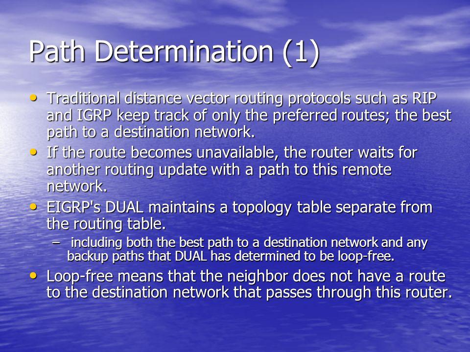 Path Determination (1)