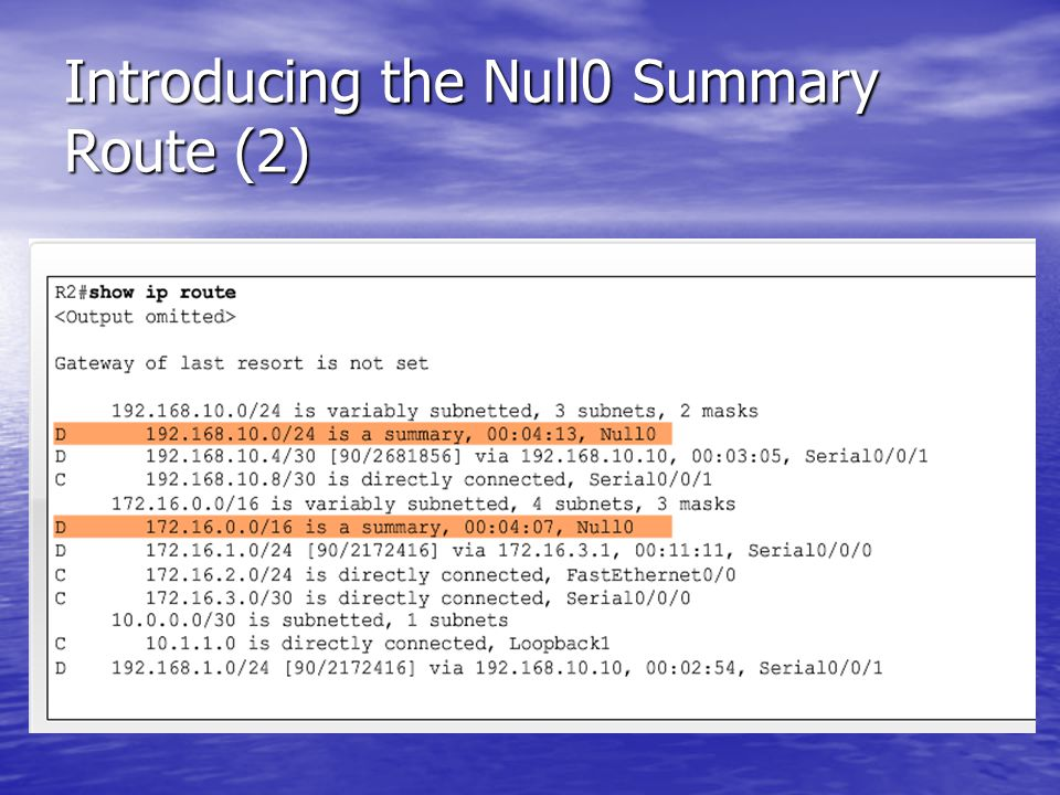 Introducing the Null0 Summary Route (2)