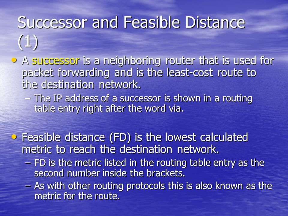 Successor and Feasible Distance (1)