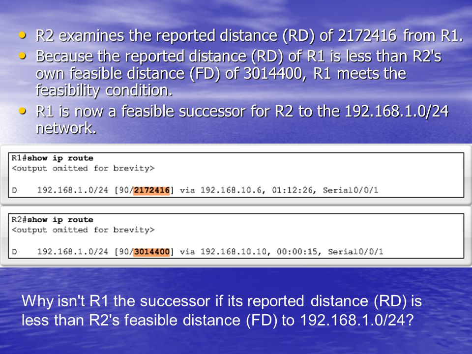 R2 examines the reported distance (RD) of 2172416 from R1.