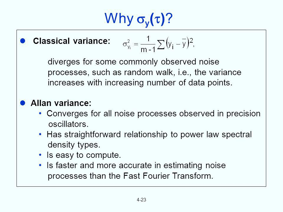 Why y()  Classical variance: