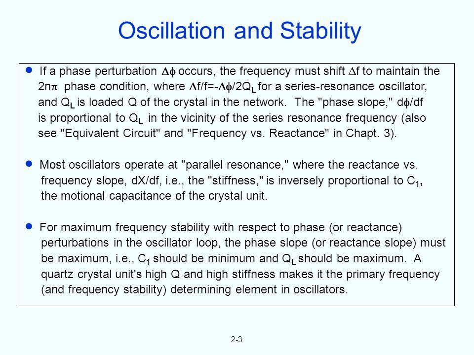 Oscillation and Stability