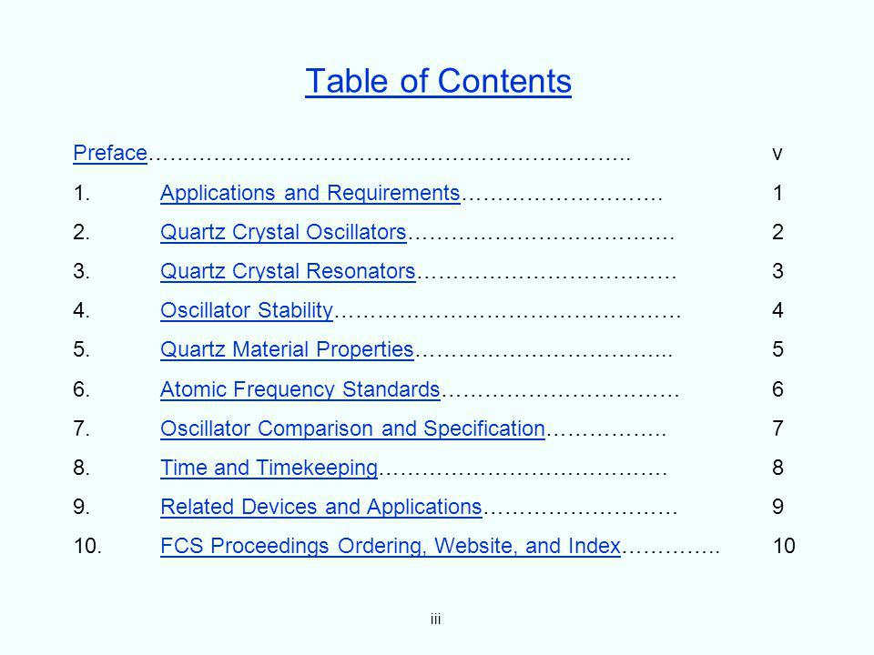 Table of Contents Preface………………………………..……………………….. v
