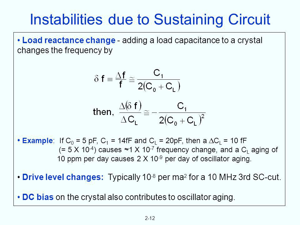 Instabilities due to Sustaining Circuit