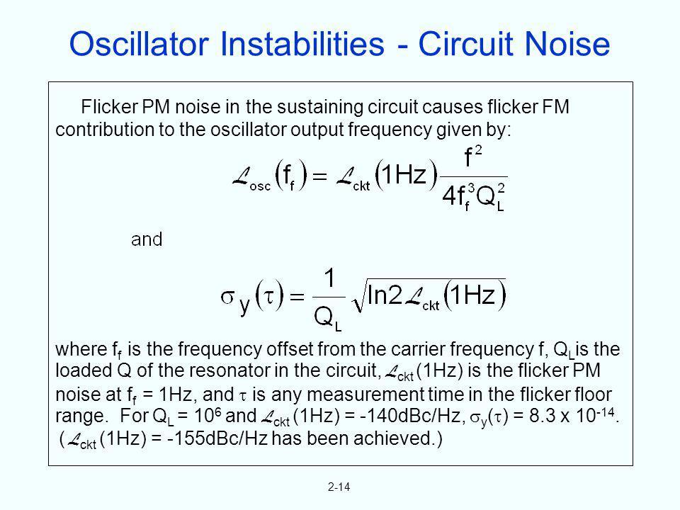 Oscillator Instabilities - Circuit Noise