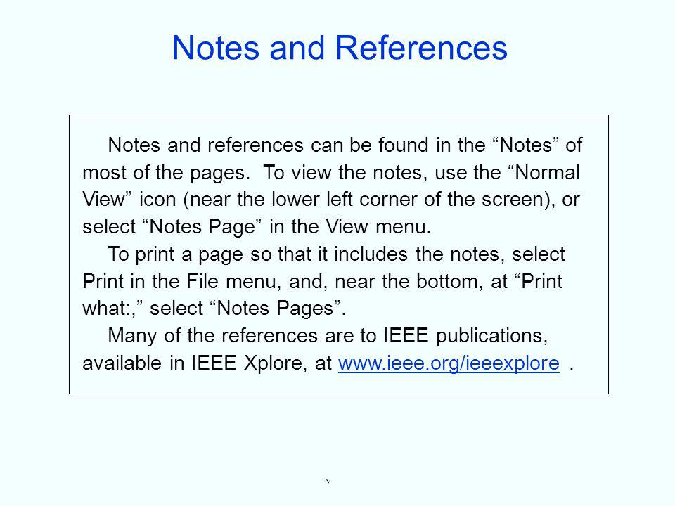 Notes and References