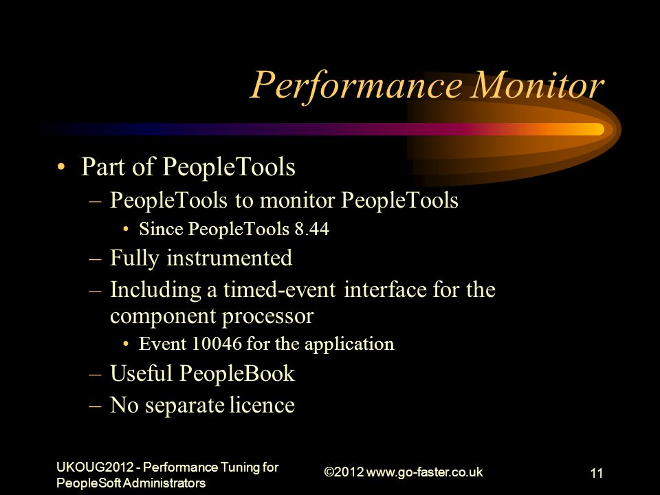 Performance Monitor Part of PeopleTools