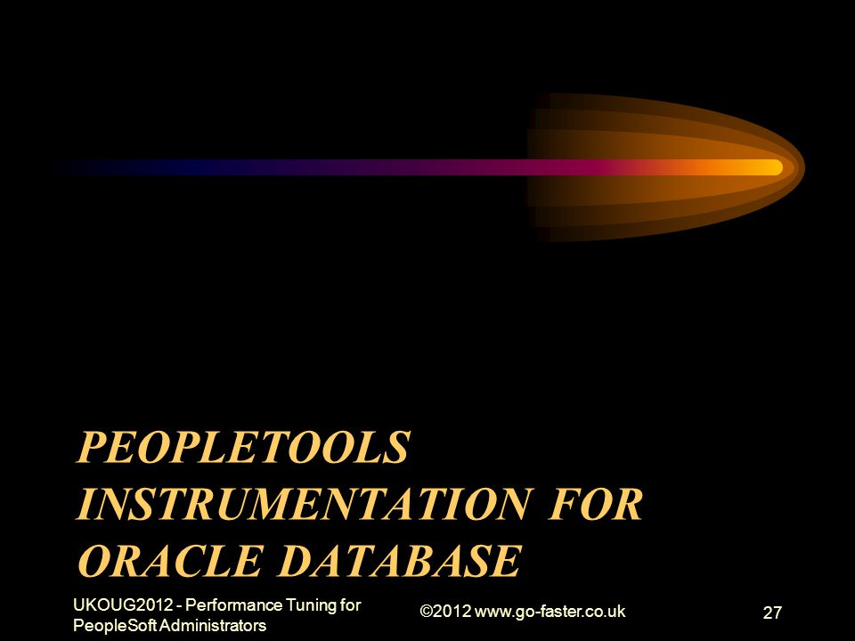 PeopleTools Instrumentation for Oracle Database