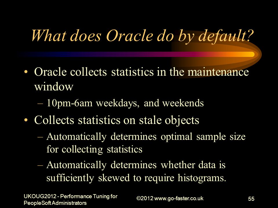 What does Oracle do by default