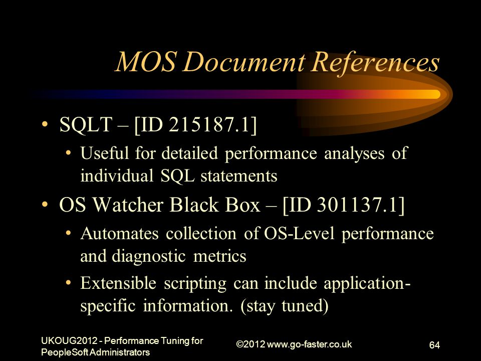 MOS Document References