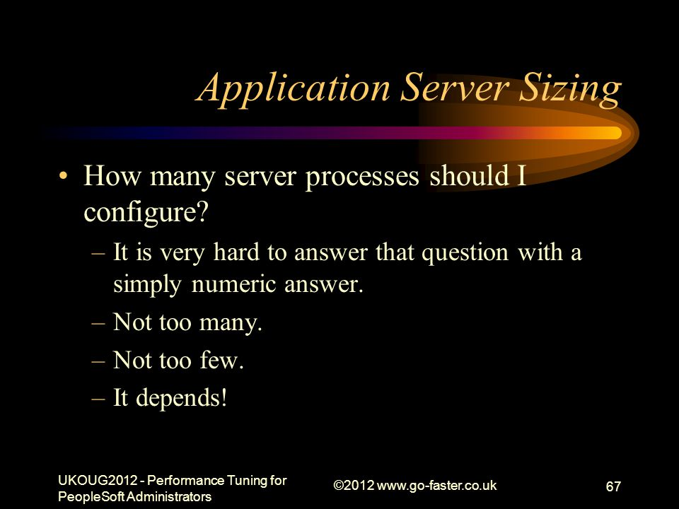 Application Server Sizing