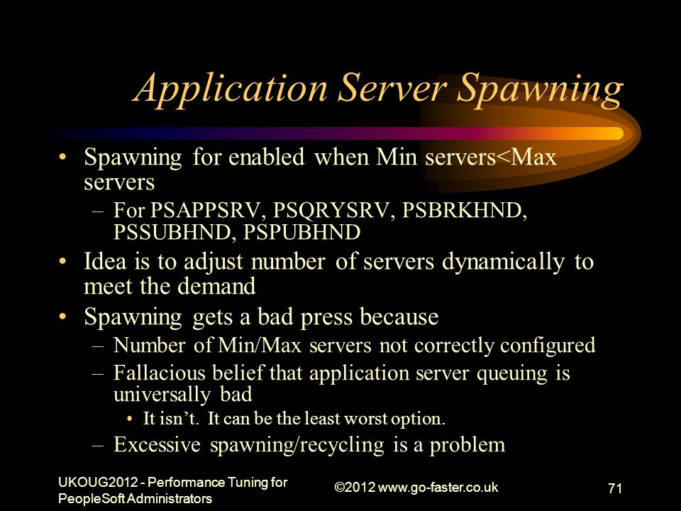 Application Server Spawning