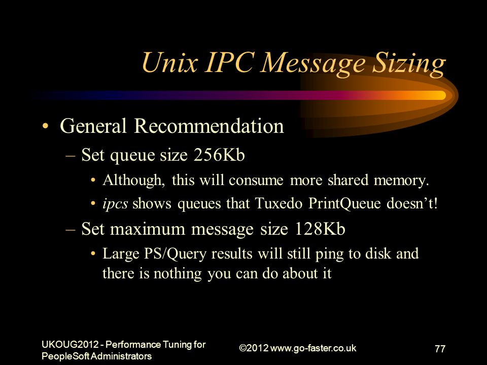 Unix IPC Message Sizing