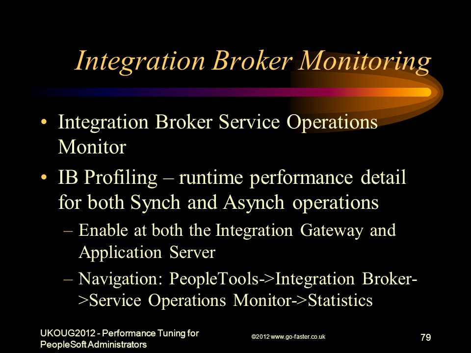 Integration Broker Monitoring