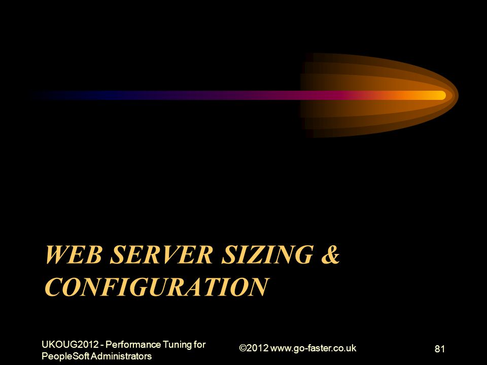 Web Server Sizing & Configuration