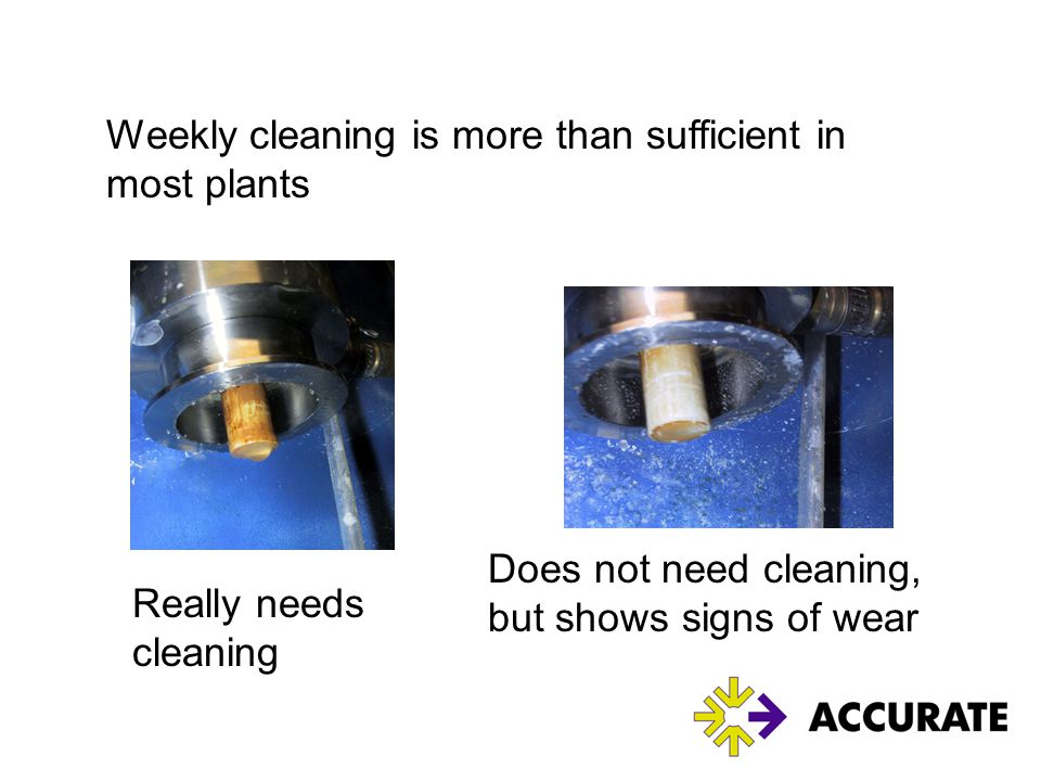 Weekly cleaning is more than sufficient in most plants