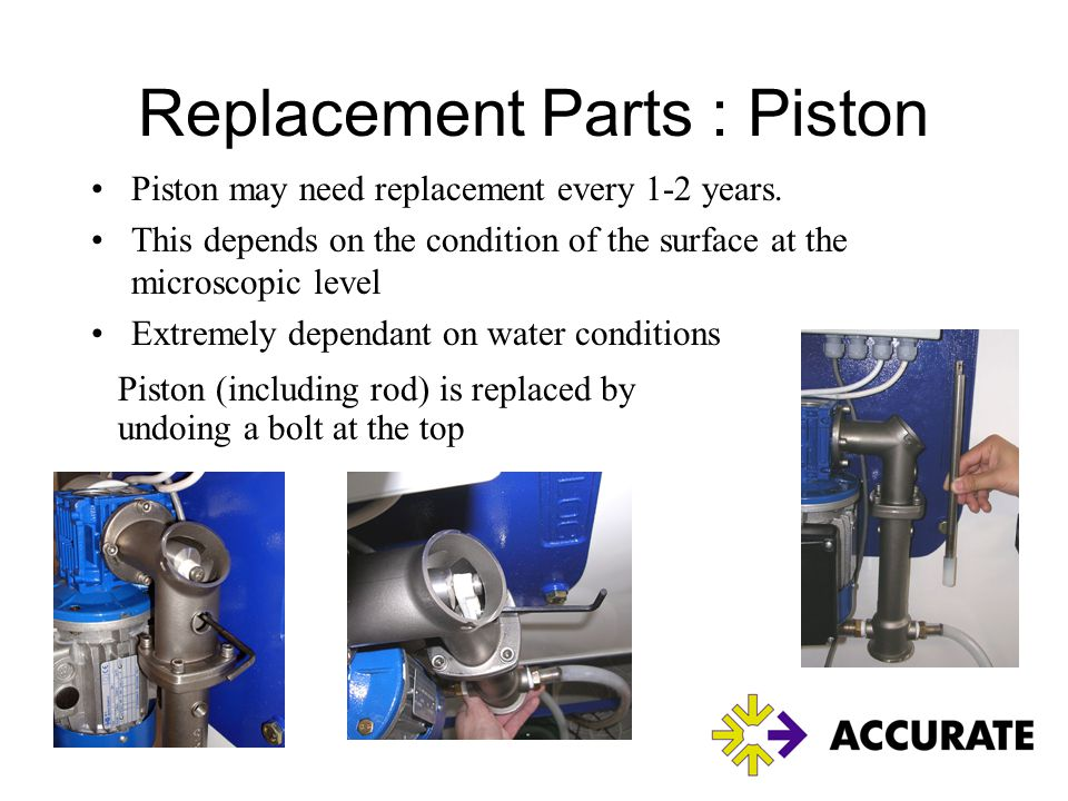 Replacement Parts : Piston