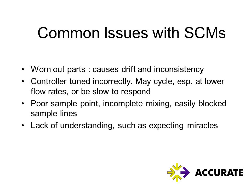 Common Issues with SCMs