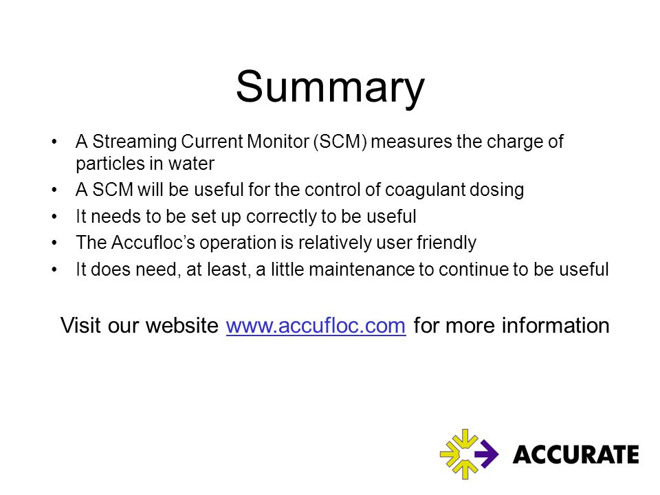 Visit our website www.accufloc.com for more information