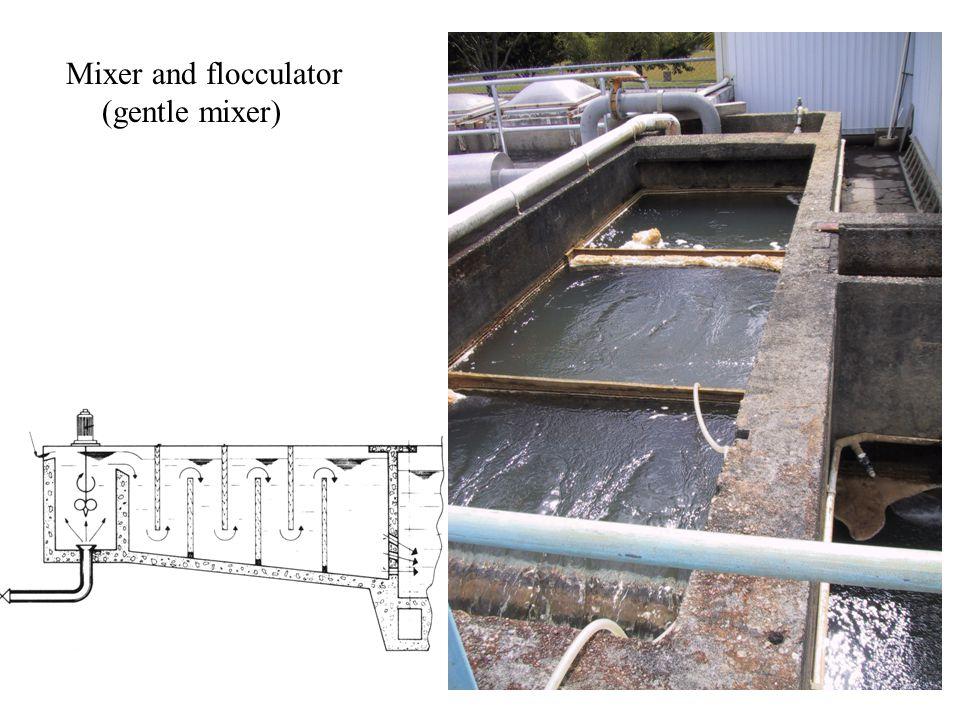 Mixer and flocculator (gentle mixer)