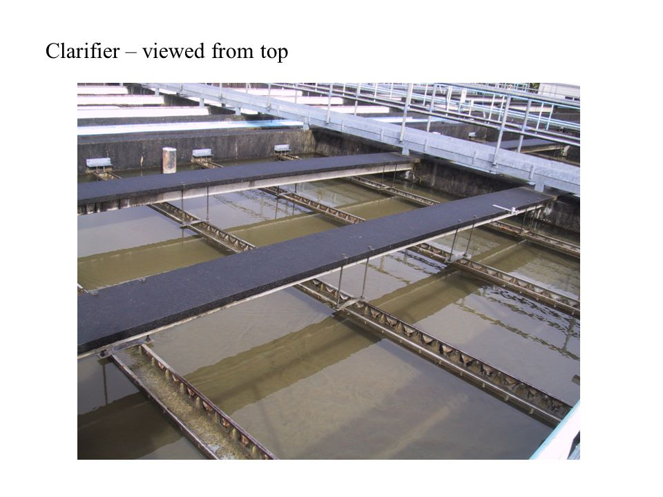 Clarifier – viewed from top