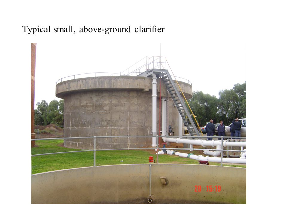 Typical small, above-ground clarifier