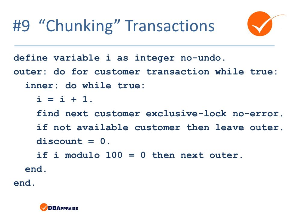 #9 Chunking Transactions