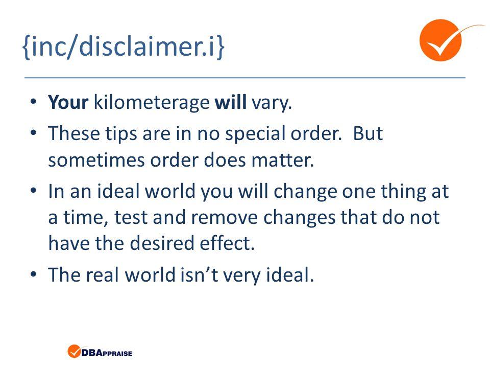 {inc/disclaimer.i} Your kilometerage will vary.
