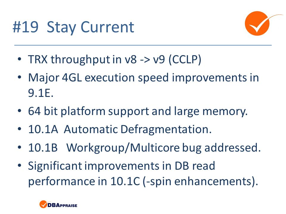 #19 Stay Current TRX throughput in v8 -> v9 (CCLP)