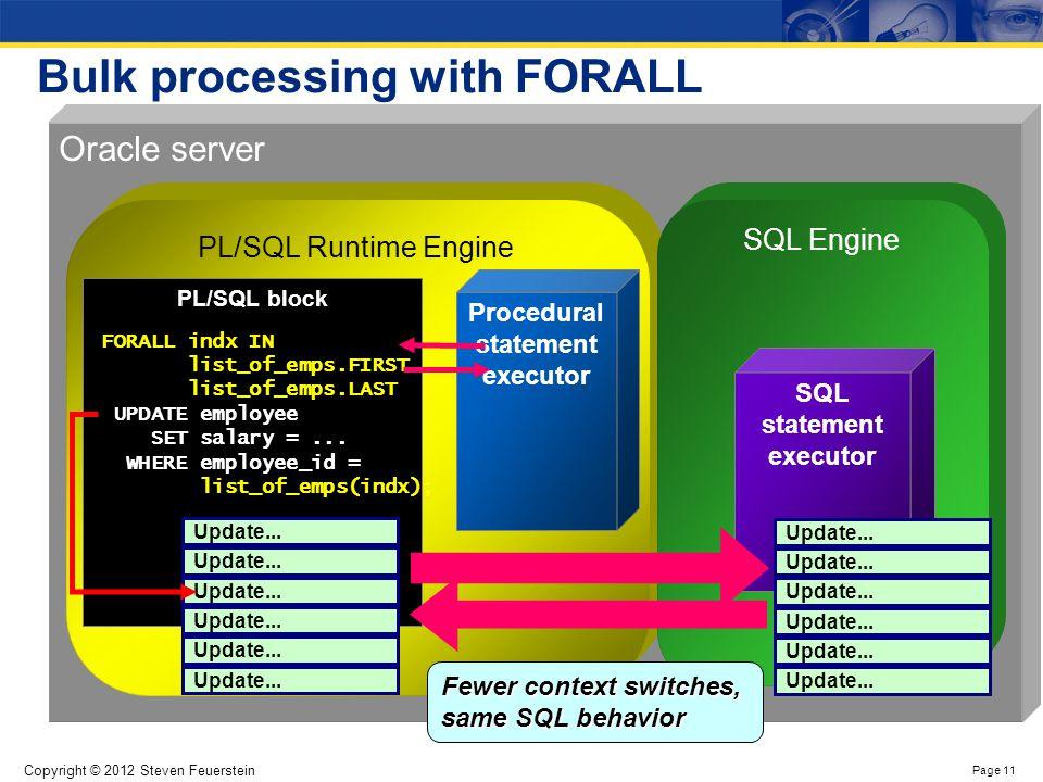 Bulk Processing in PL/SQL