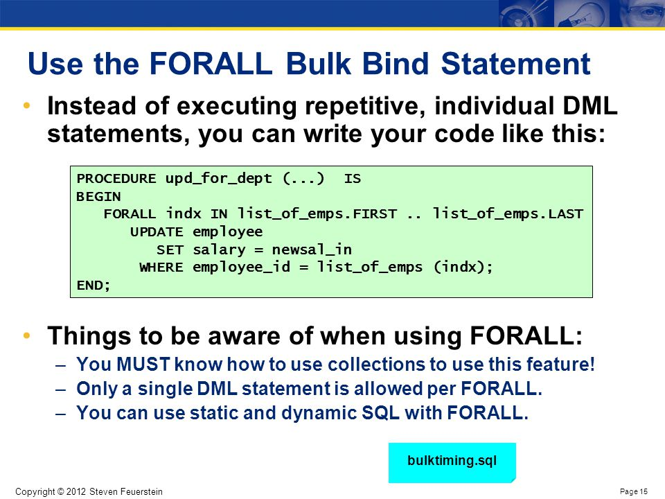 Key features and limitations of FORALL