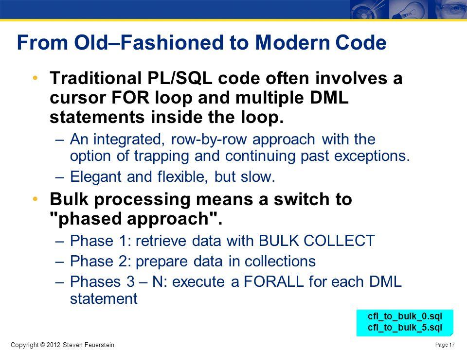 Bulk Processing Conclusions