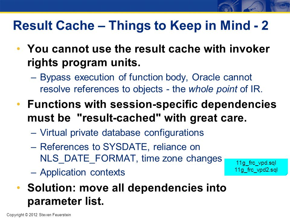 Tuning the Result Cache