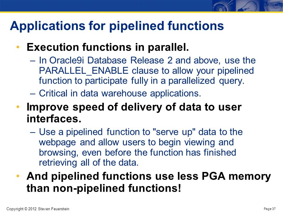 Piping rows out from a pipelined function