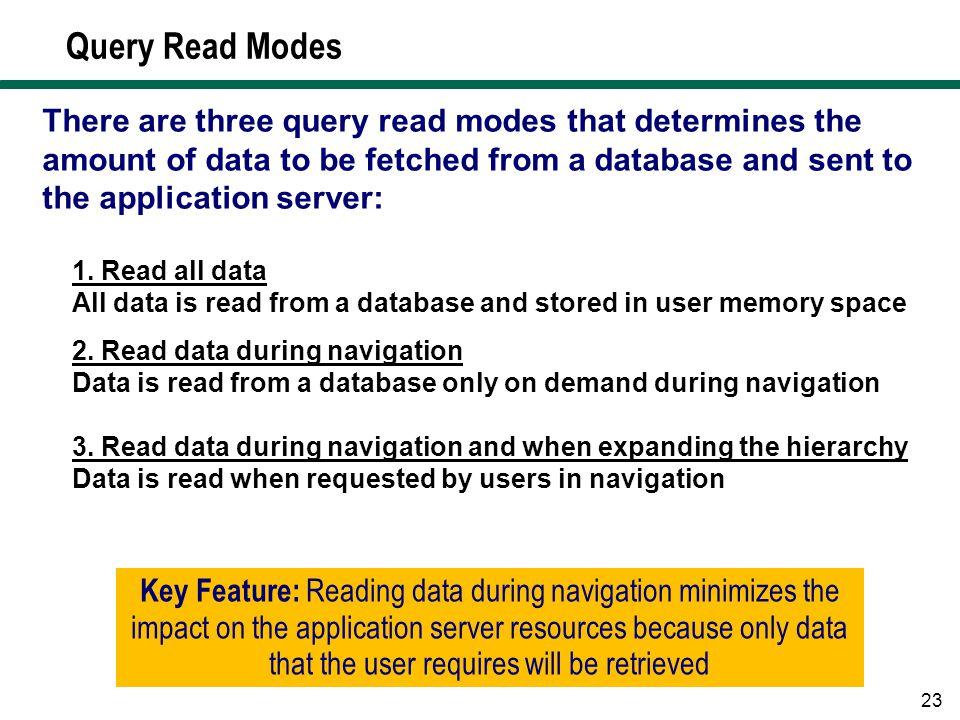Query Read Modes