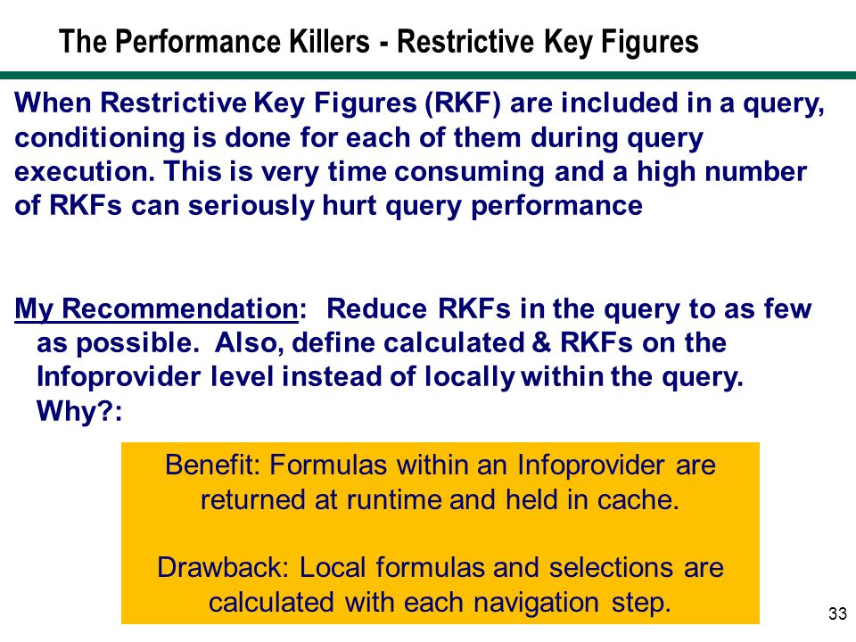 The Performance Killers - Restrictive Key Figures