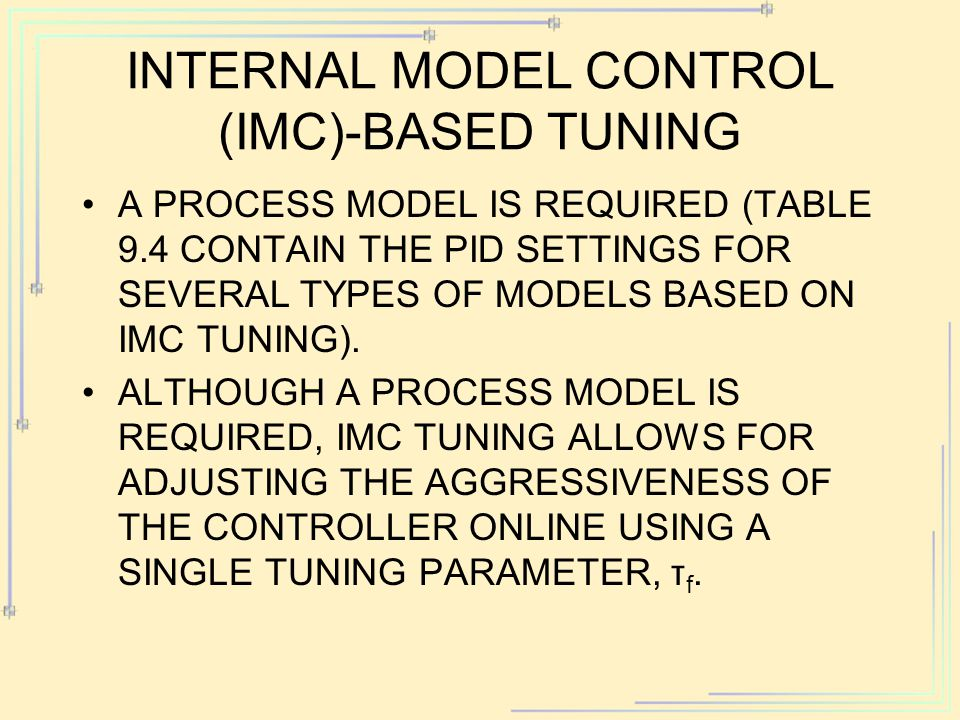 Internal model control (IMC)-Based Tuning