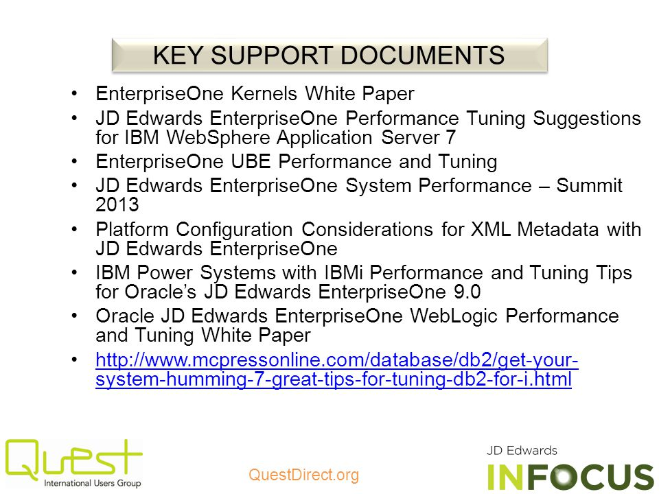 KEY SUPPORT DOCUMENTS EnterpriseOne Kernels White Paper