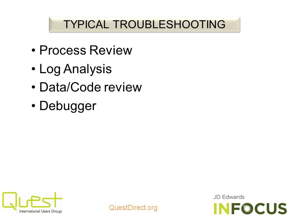 TYPICAL TROUBLESHOOTING