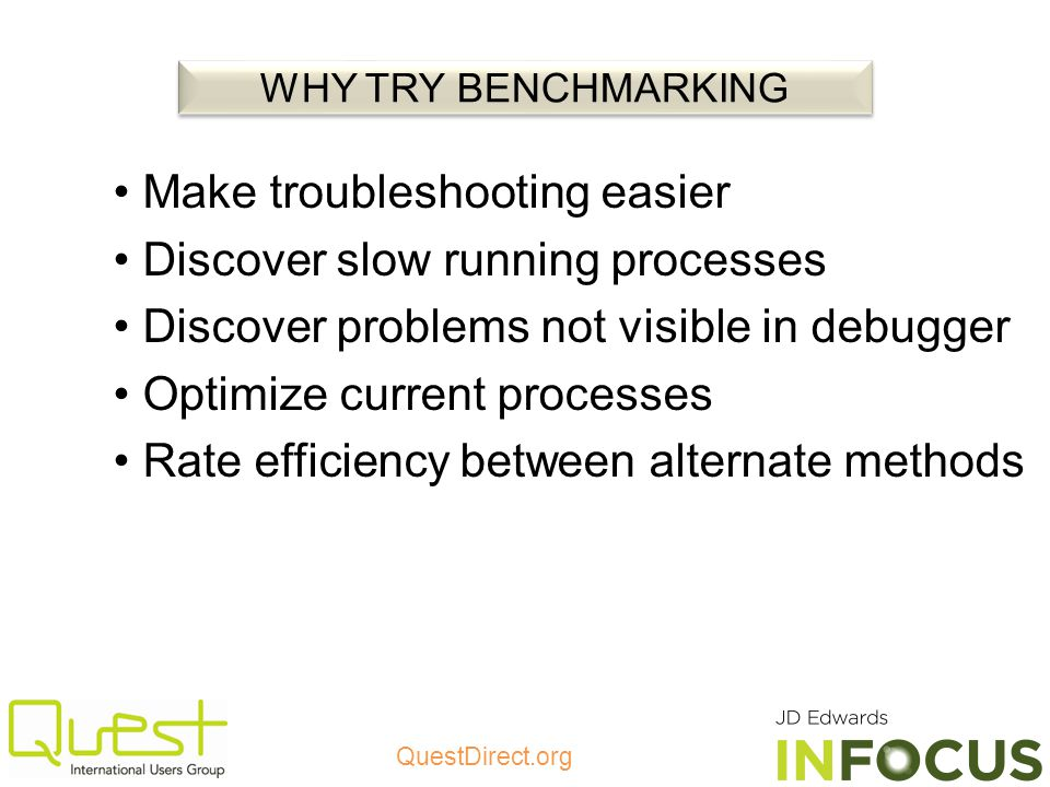 Make troubleshooting easier Discover slow running processes