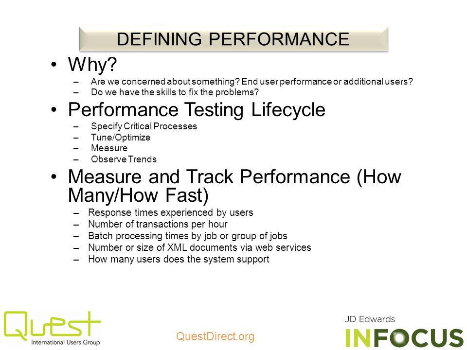 Performance Testing Lifecycle