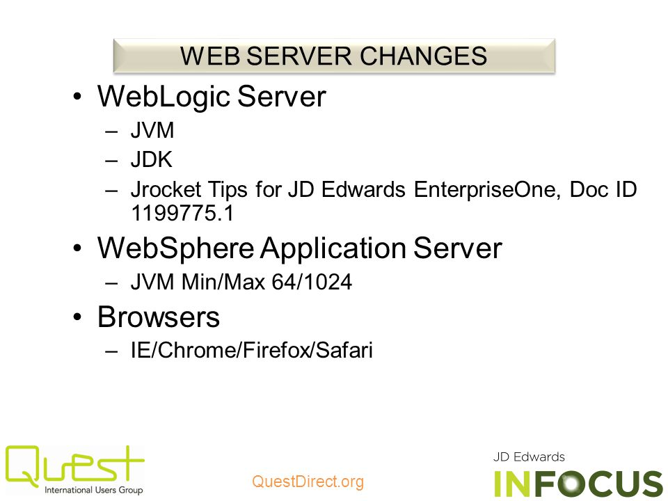 WebSphere Application Server Browsers