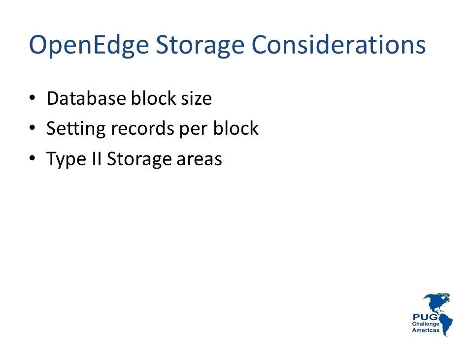 OpenEdge Storage Considerations