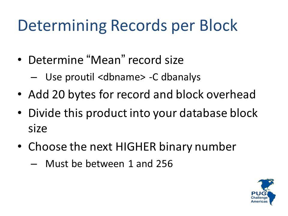Determining Records per Block