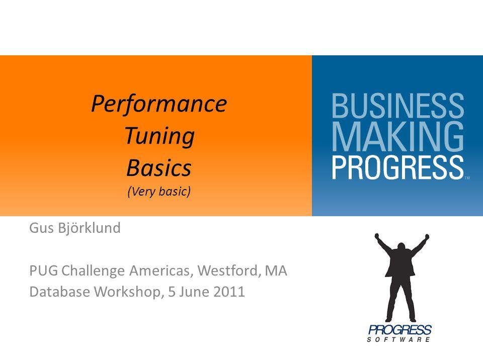 Performance Tuning Basics (Very basic)