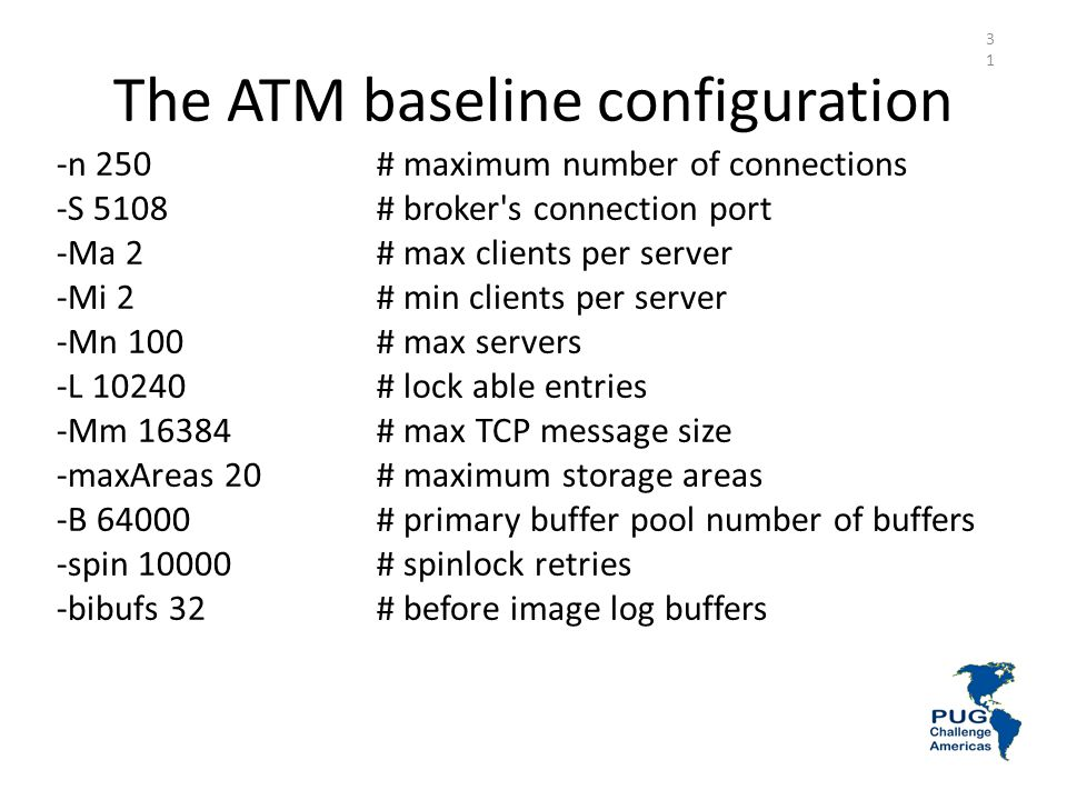 The ATM baseline configuration