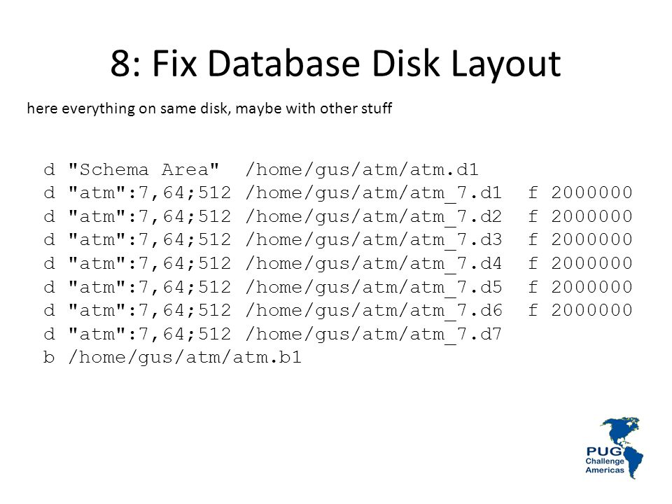 8: Fix Database Disk Layout
