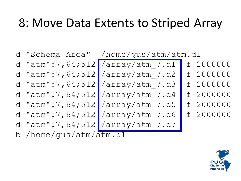 8: Move Data Extents to Striped Array