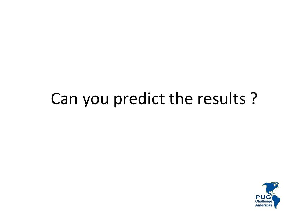 Can you predict the results