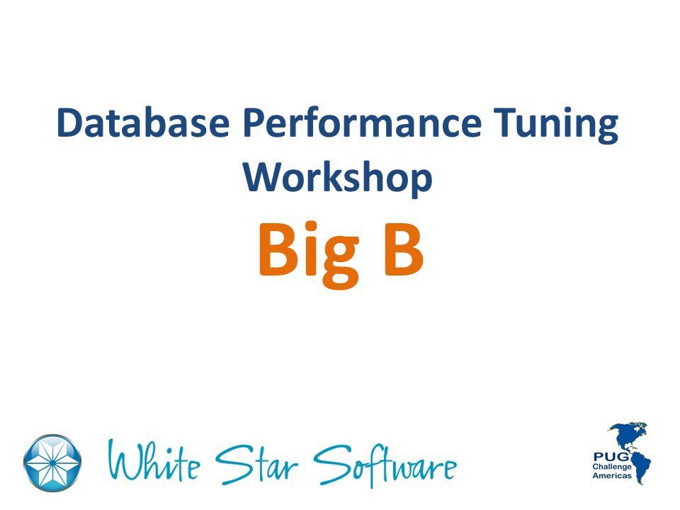 Database Performance Tuning Workshop